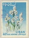 Stamps Lebanon -  flor