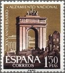 Sellos de Europa - España -  ESPAÑA 1961 1356 Sello Nuevo XXV Aniv. del Alzamiento Nacional Arco de Triunfo