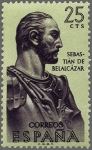 Stamps Europe - Spain -  ESPAÑA 1961 1374 Sello Nuevo Forjadores de América Sebastián de Belalcazar