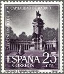 Stamps Europe - Spain -  ESPAÑA 1961 1388 Sello Nuevo Capitalidad de Madrid Monumento a Alfonso XII en el Retiro