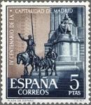 Sellos de Europa - España -  ESPAÑA 1961 1393 Sello Nuevo Capitalidad de Madrid Monumento a Cervantes en Plaza España El Quijote