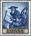 Sellos de Europa - España -  ESPAÑA 1962 1425 Sello Nuevo Pintor Francisco de Zurbaran Apoteosis de Santo Tomás