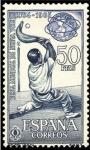 Stamps Spain -  ESPAÑA 1964 1594 Sello Nuevo Feria de Nueva York Pelota Vasca