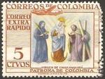 Sellos de America - Colombia -  virgen de chiquinquira