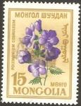 Stamps Mongolia -  flora - plemonium coeruleum