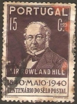 Stamps Portugal -  sir rowland hill