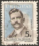 Sellos del Mundo : America : Uruguay : carlos vaz ferreira