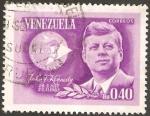 Stamps : America : Venezuela :  John F. Kennedy