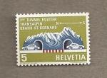 Stamps Switzerland -  1er tunel transalpino para coches