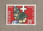 Stamps Switzerland -  Centenario de las asociación de oficiales