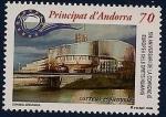 Stamps Andorra -  50 anivº convención Europea de los derechos humanos