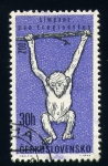 Sellos de Europa - Checoslovaquia -  chimpance