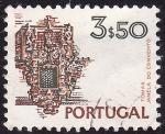 Stamps : Europe : Portugal :  Balcon del convento de Cristo , Tomar-Patrimoniode de la Humanidad