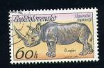 Sellos del Mundo : Europa : Checoslovaquia : rinocerote
