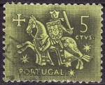 Stamps : Europe : Portugal :  Ilustracion Medieval