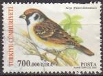 Stamps Asia - Turkey -  TURQUIA Turkia 2004 Scott 2893 Sello Serie Fauna Pajaro comun Passer domesticus usado