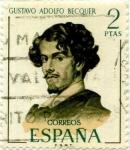 Sellos del Mundo : Europa : España : Gustavo Adolfo Becquer