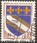 Stamps : Europe : France :  1353 - Escudo de Troyes