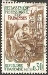 Sellos del Mundo : Europa : Francia :  Discapacitado trabajando