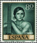 Sellos del Mundo : Europa : España : ESPAÑA 1965 1660 Sello Nuevo Julio Romero de Torres Niña de la Guitarra