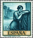 Stamps Spain -  ESPAÑA 1965 1662 Sello Nuevo Julio Romero de Torres Poema de Cordoba