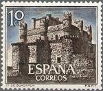 Stamps Spain -  ESPAÑA 1966 1738 Sello Nuevo Serie Castillos Guadamur Toledo
