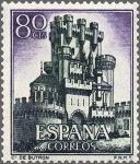 Sellos de Europa - España -  ESPAÑA 1966 1743 Sello Nuevo Serie Castillos Butron Vizcaya