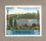 Stamps Nepal -  Coronación del rey