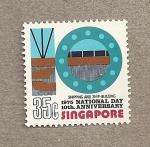 Stamps Asia - Singapore -  10 Aniv de la independencia