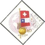 Stamps Hungary -  Mundial de fútbol, Chile 62