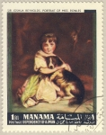 Stamps Asia - Bahrain -  Sir Joshua Reynolds:  portrait of miss rowles
