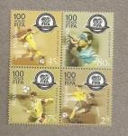 Sellos de Europa - Ucrania -  100 Aniversario FIFA