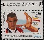 Stamps Equatorial Guinea -  Campeones Olímpicos Barcelona 92 -Natación- M. López Zubero - España
