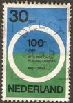 Stamps : Europe : Netherlands :  centº de la primera conferencia de correos internacional