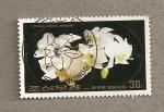 Sellos de Asia - Corea del norte -  flores blancas