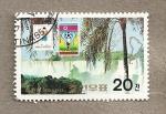 Stamps North Korea -  Cataratas Iguazú, Argentina