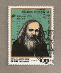 Stamps Asia - North Korea -  150 Aniv nacimiento Mendeleiev