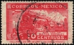 Stamps America - Mexico -  Ferrocarril postal. Sobre cuota para bultos postales.