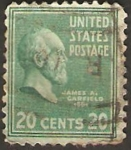 Stamps United States -  james a. garfield