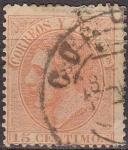 Stamps Europe - Spain -  ESPAÑA 1879 210 Sello º Rey Alfonso XII 15c Usado