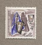 Stamps Europe - Malta -  Navidad 1966