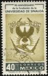 Sellos de America - México -  90 años de la fundación de la Universidad de Sinaloa. Emblema.
