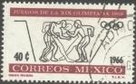 Sellos de America - México -  Lucha libre. Propaganda juegos de la XIX Olimpíada en México 1968.