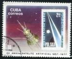 Sellos de America - Cuba -  Aniv. Satélite Artificial