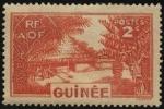Stamps Guinea -  Aldea de la tribu MABO, en el área de Fouta Djalon.