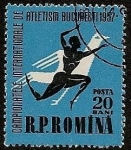Stamps Romania -  Campeonato Internacional de Atletismo - Bucarest 1957