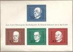 Stamps Germany -  Primer aniv. fallecimiento de Konrad Adenauer