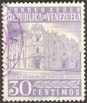 Stamps Venezuela -  oficina principal de correos en caracas