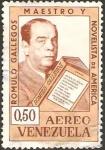 Stamps America - Venezuela -  romulo gallegos, maestro y novelista
