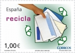 Stamps of the world : Spain :  Valores Cívicos. Reciclaje